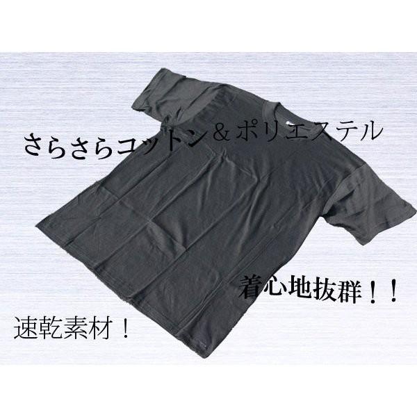 黒無地Tシャツ Lサイズx2枚 速乾 ピッチリ/送...