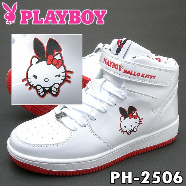 PLAYBOY Bunny PH-2506 ホワイト レディース スニ...