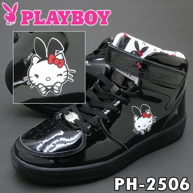 PLAYBOY Bunny PH-2506 ブラック レディース スニ...