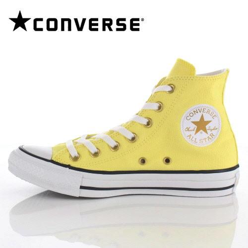 コンバース レディース スニーカー CONVERSE ALL STAR PASTELS HI イエロー YE-95123 パステルカラー