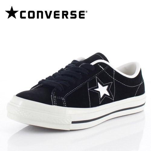 コンバース レディース メンズ スニーカー CONVERSE ONE STAR J SUEDE ブラック BK/01-5691101 スエード