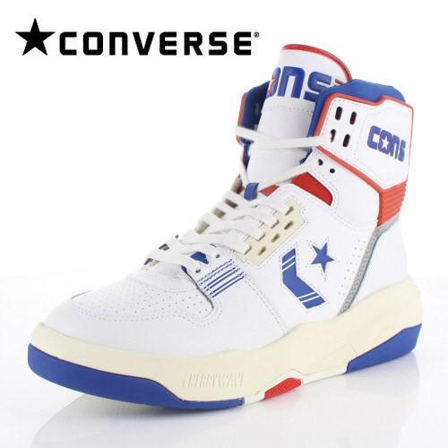 コンバース メンズ スニーカー CONVERSE ERX-400 EW HI ホワイト/ネイビー/レッド トリ-66185