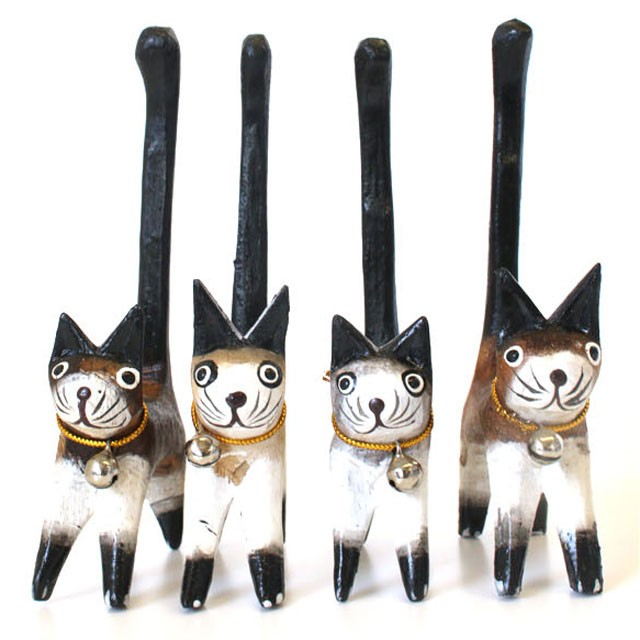 しっぽネコ 猫雑貨 しっぽ上げネコ ねこの置物...