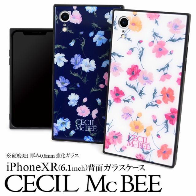 iPhoneXR 専用 CECIL McBEE 背面ガラスケース セ...