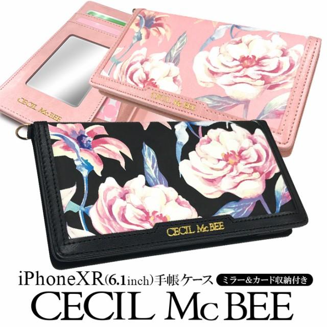 iPhoneXR 専用 CECIL McBEE セシルマクビー 手帳...
