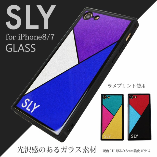 iPhone8 iPhone7 兼用 ケース ブランド SLY 背面...