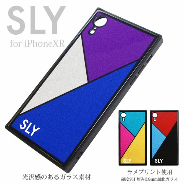iPhoneXR 専用 SLY 背面ガラスケース ラメ スライ...