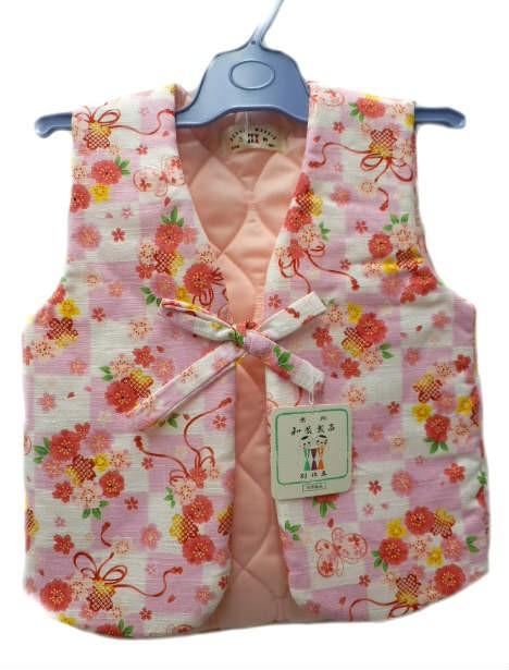 子供 あったか ポンチョ 0〜1歳用 ピンク地 花束 ...