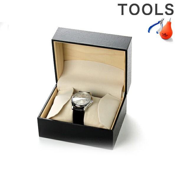 【あす着】腕時計ケース 1本収納 ブラッククロコ...