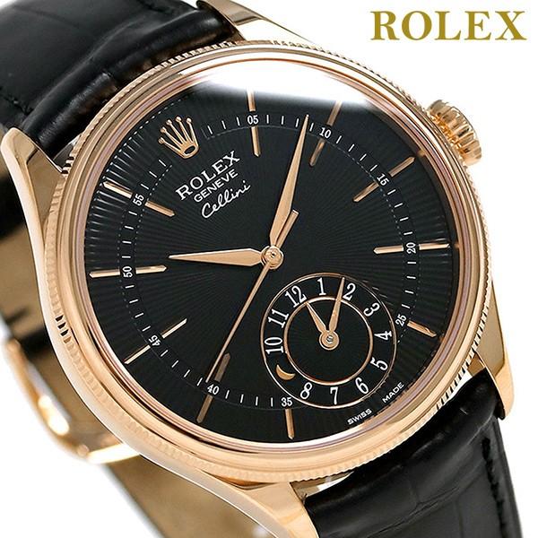 【あす着】ロレックス ROLEX チェリーニ デュアルタイム 39 自動巻き 50525 腕時計 新品 ブラック