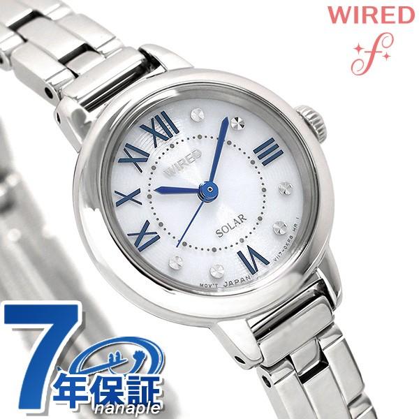 【あす着】セイコー ワイアード エフ ソーラー レディース 腕時計 AGED095 SEIKO WIRED f シルバー