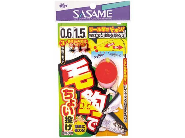 ささめ針/SASAME N-500 毛鈎て?ちょい投け? ...