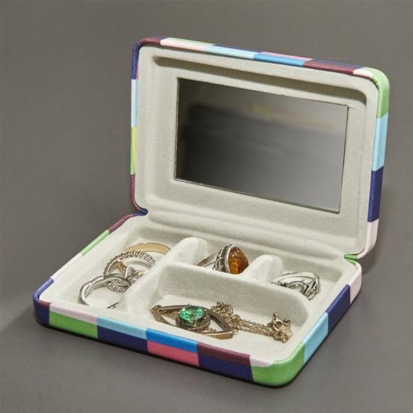 ジュエリーケース アクセサリーケース 携帯用 コンパクト おしゃれ かわいい 持ち運び用 ミラー付き ポータブルジュエリーケース