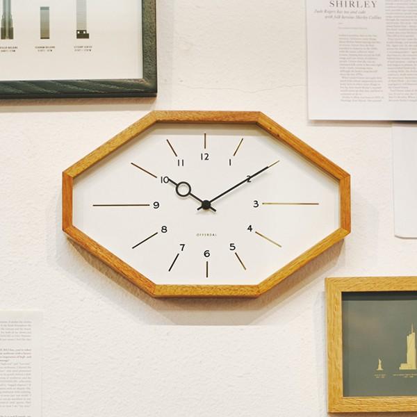 電波時計 おしゃれ 掛け時計 ベルモンテ 八角形 ...