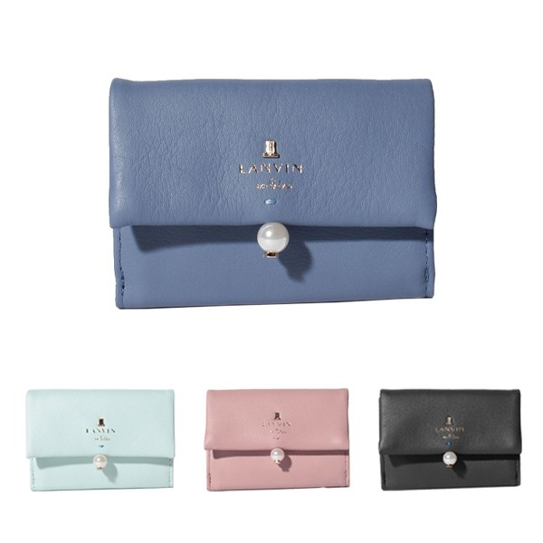 08fec099b3b2 ランバンオンブルー LANVIN en Bleu 財布 3つ折り財布 シャペル 482014の ...