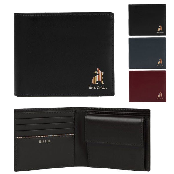 ポールスミス 財布 二つ折財布 折り財布 メンズ ...