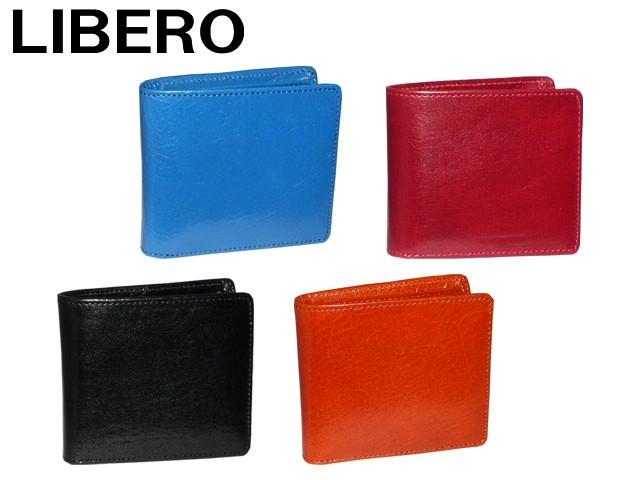 LIBERO リベロ 二つ折り財布 イタリアンレザー LA...