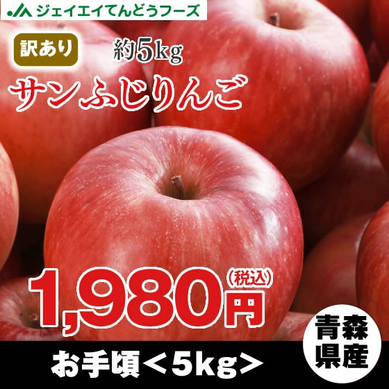 【訳あり★青森県産】 『サンふじ』 りんご 約5kg...