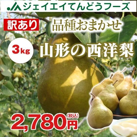 【ご自宅用】 訳あり 山形の西洋梨 約3kg (品種...