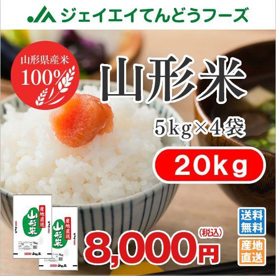 米 お米 山形米 精米 20kg (5kg×4袋)ryb20 【2...