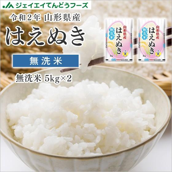 米 お米 令和2年 山形県産 はえぬき 無洗米 10kg(5kg×2袋) 時短 rhm1002