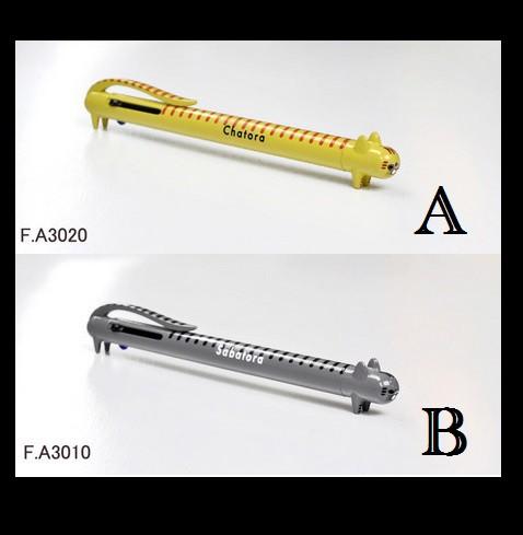 3色ボールペン ネコペン