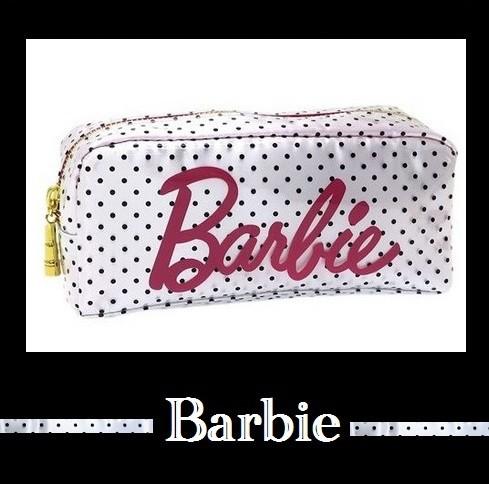バービー Barbieポーチ ドツト柄ロゴデザイン ...