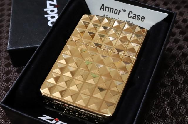 【Armor ZIPPO】 重厚アーマー 両面 ピラミッド ...