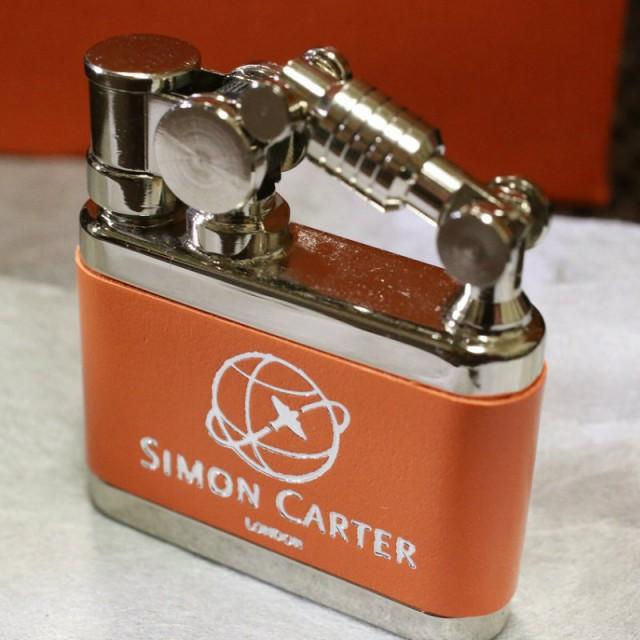 【SIMON CARTER】オイルライター デューク 革巻き...