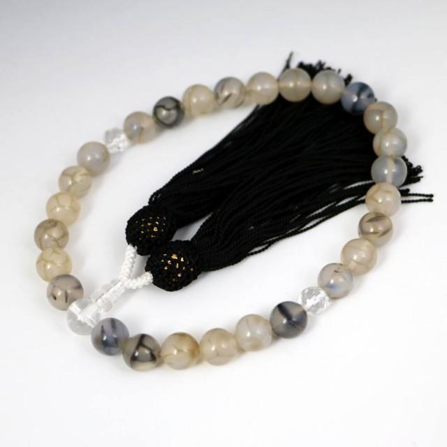 数珠 男女兼用 龍紋石の数珠 ドラゴンアゲート