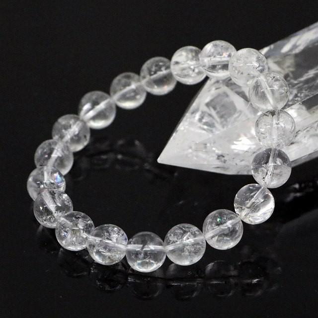 ヒマラヤ水晶 10mm玉 ブレスレット 1点もの