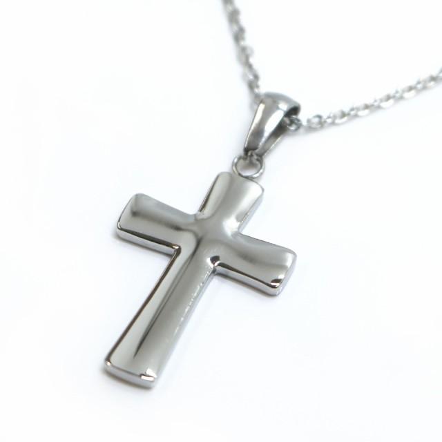 ネックレス ステンレス 316L クロス 十字架 シル...