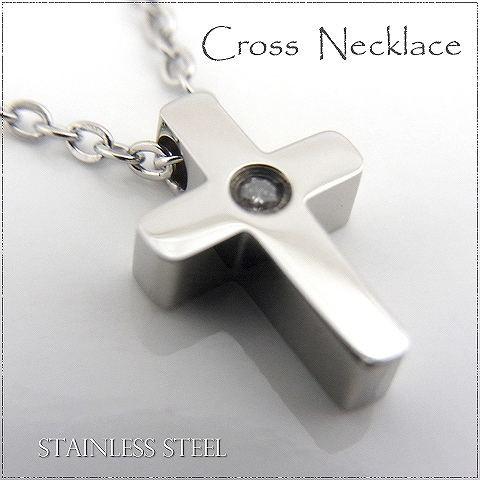 ネックレス ステンレス 316L クロス 十字架 ジル...