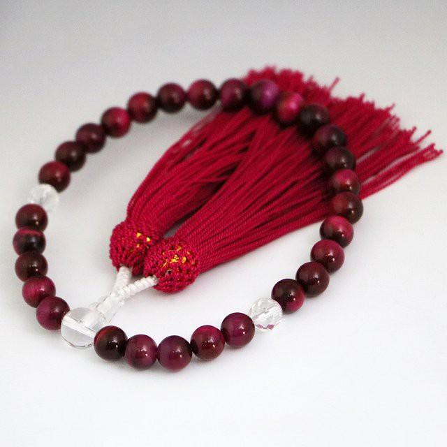 数珠 女性用 ローズタイガーアイの数珠 (ojyuzu-b...