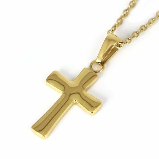 ネックレス ステンレス 316L クロス 十字架 ゴー...