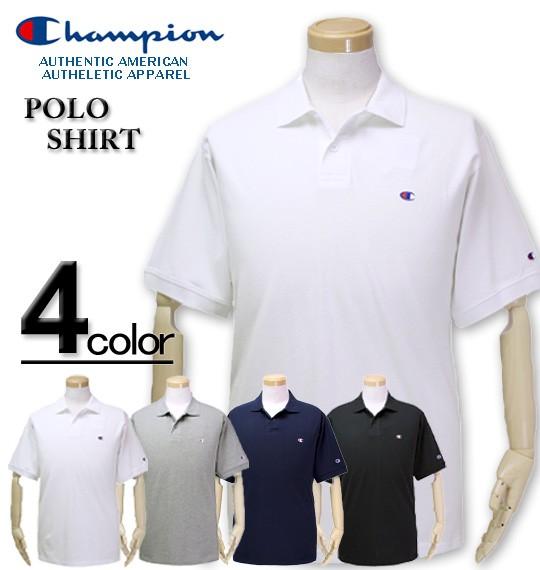 大きいサイズ Champion 鹿の子 半袖ポロシャツ 3L...