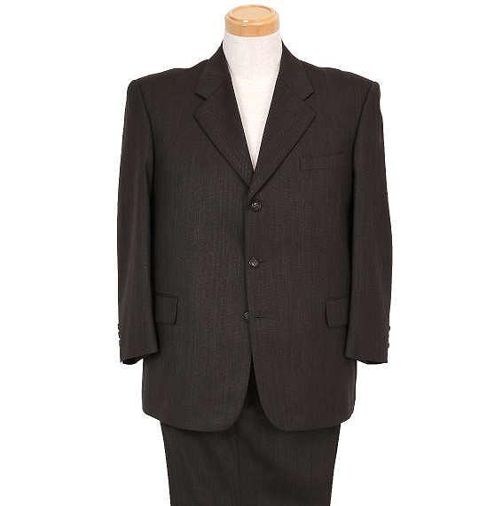 大きいサイズ シングル3ツ釦スーツ(2パンツ) ダー...