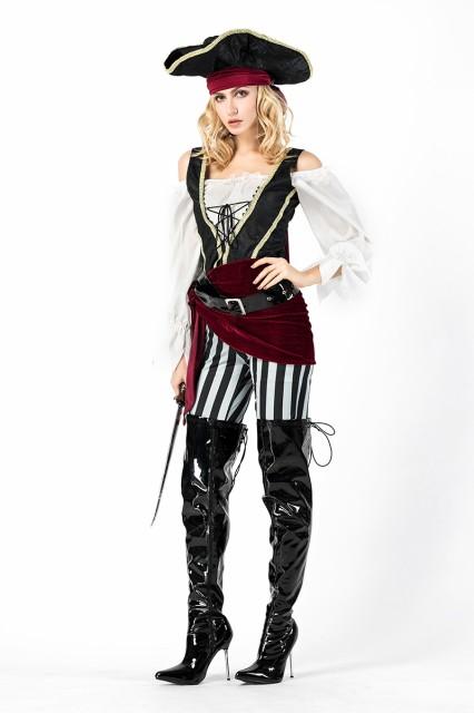 ハロウィン 海賊 コスプレ 女性用 パイレーツ衣装...