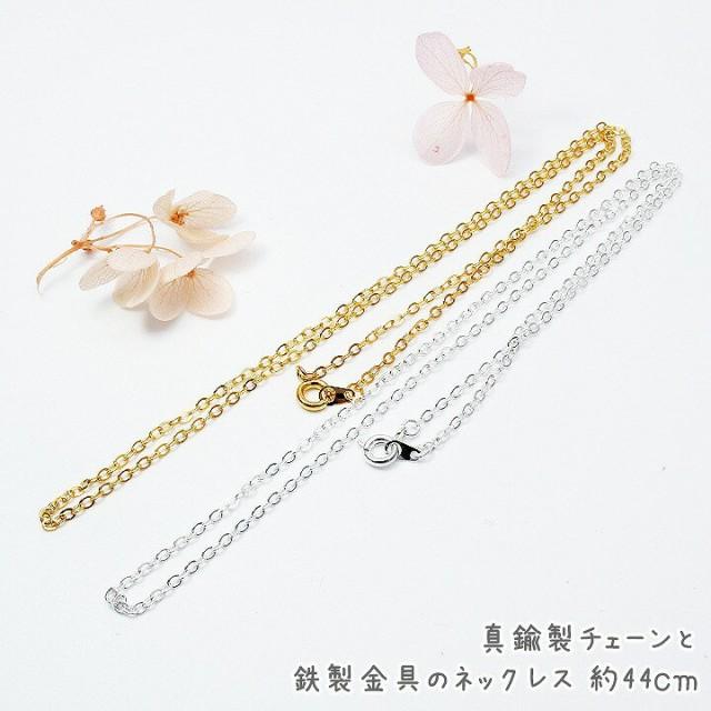 真鍮製チェーンと鉄製金具のネックレス 約44cm[ゴ...