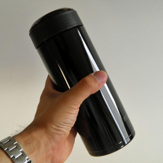 ステンレス製マグボトル600ml レッド/ブラック保...