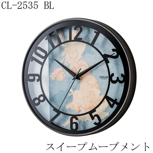 掛け時計 CL-2535 BL 丸型 2017SS インターフォル...