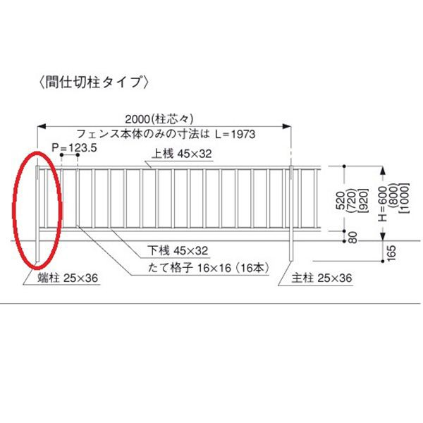 三協アルミ 形材フェンス マイエリア2 間仕切...