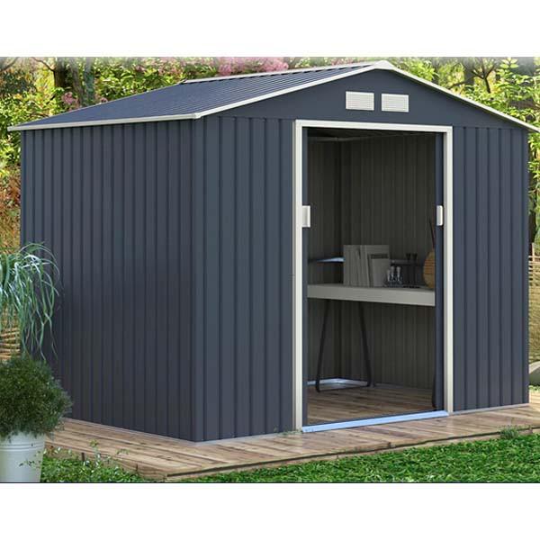 リーベ メタルシェッド 物置小屋  006 ダー...