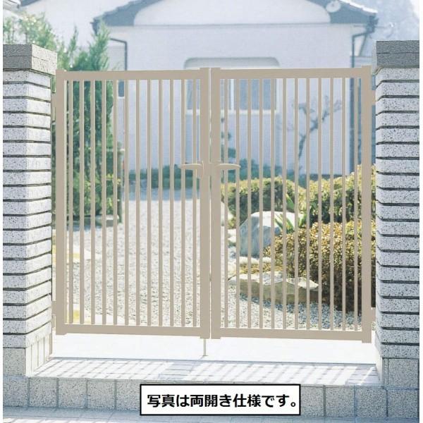 三協アルミ 形材門扉末広2型 0412 両開き門柱...