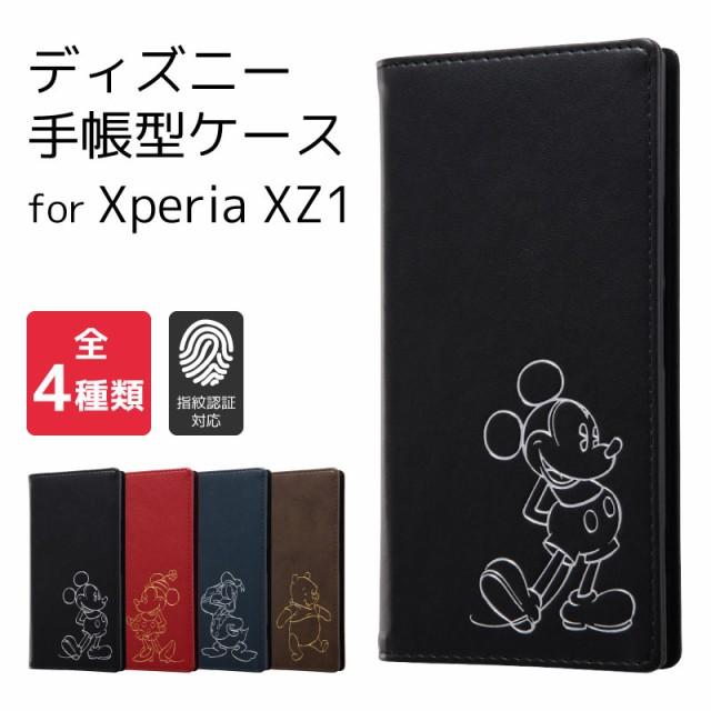 [ディズニー Xperia XZ1 手帳型ケース ホットスタ...