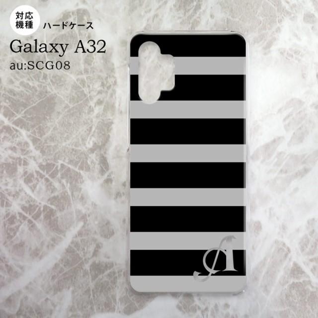 SCG08 Galaxy A32 ケース ハードケース ボーダー ...