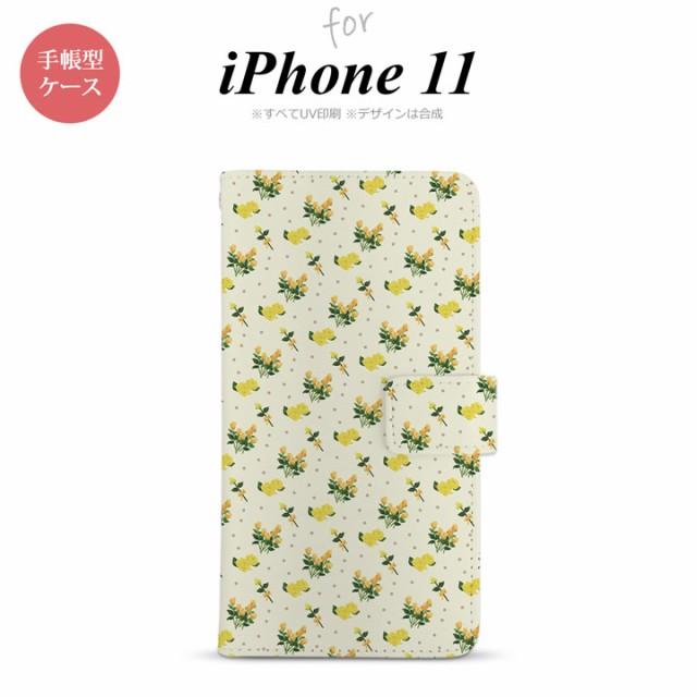 iPhone11 手帳型スマホケース カバー 花柄 バラ ...