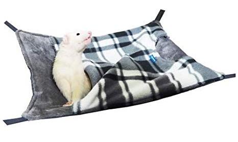 [レインボー]フェレットの冬用ワイドな大判ハンモ...