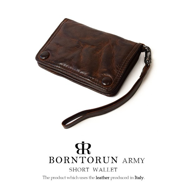 BORNTORUN ボントラン 二つ折り財布 ウォレット ...