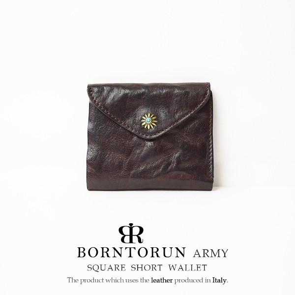 BORNTORUN ボントラン 三つ折り財布 ウォレット ...